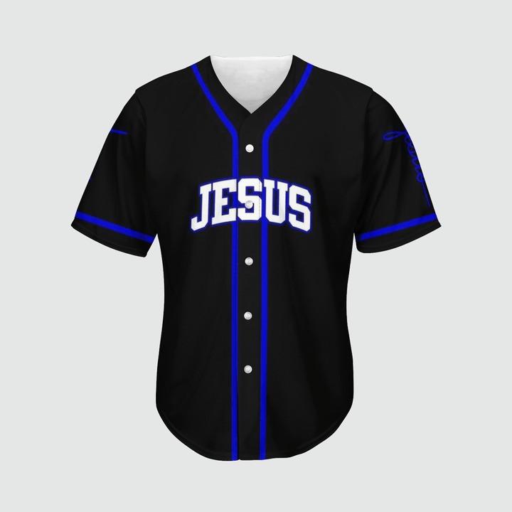 Jesus saved my life Baseball Jersey2
