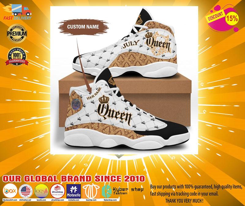 July queen custom name air jordan sneaker2