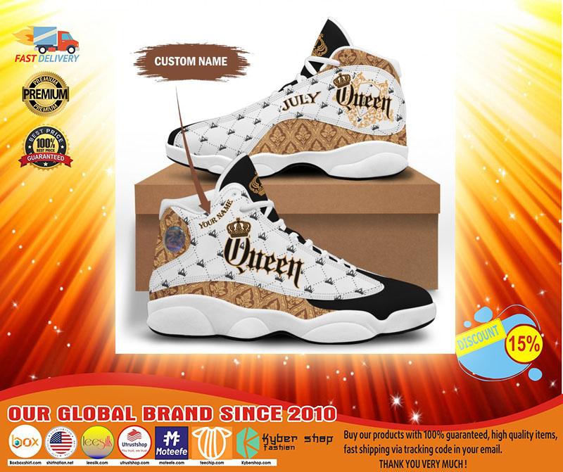 July queen custom name air jordan sneaker3