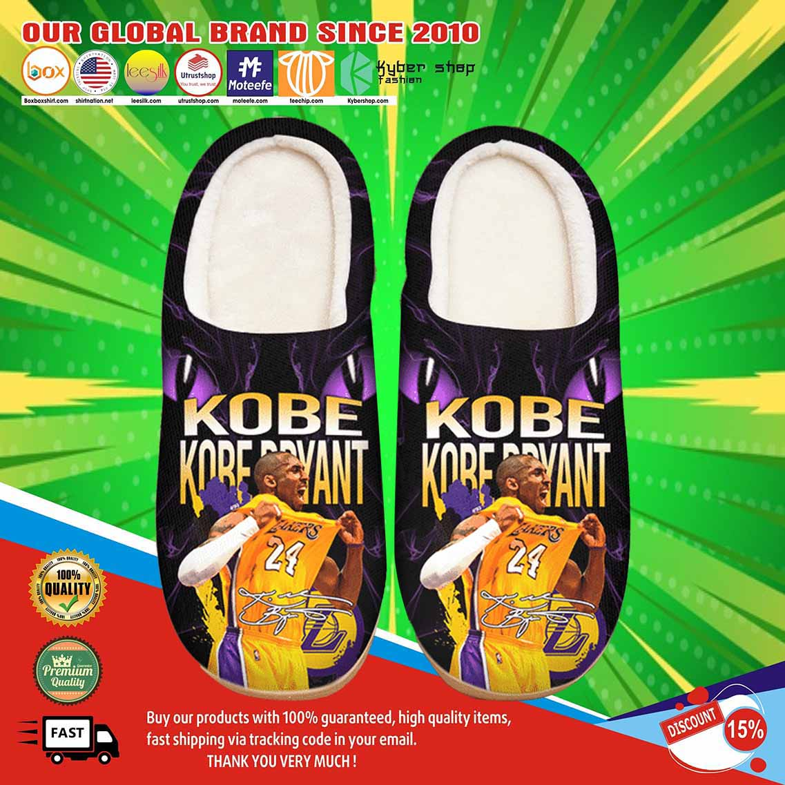 Kobe Bryant Custom Shoes Slippers 3