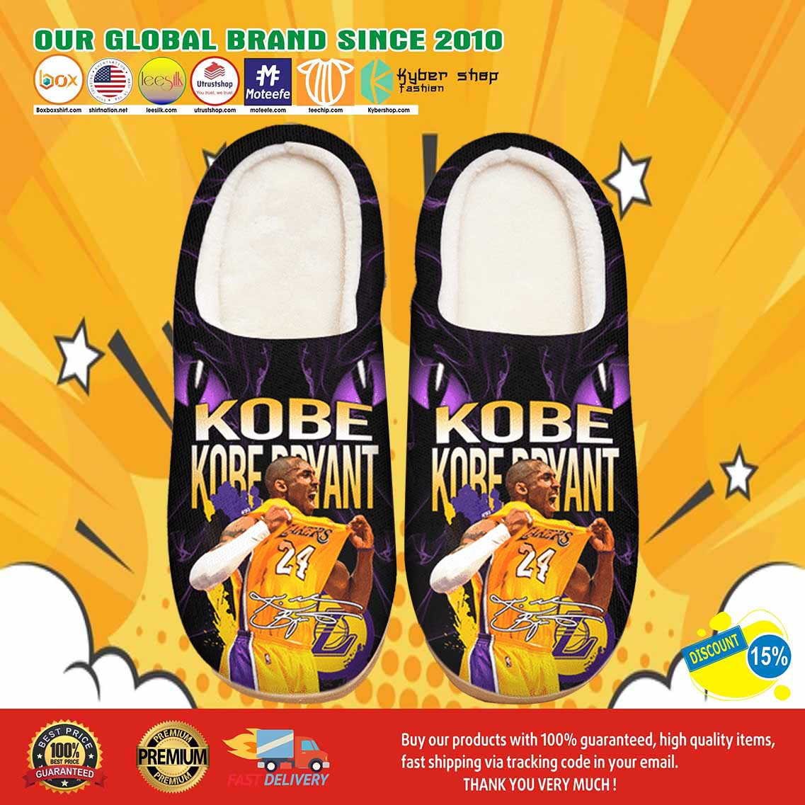 Kobe Bryant Custom Shoes Slippers 7