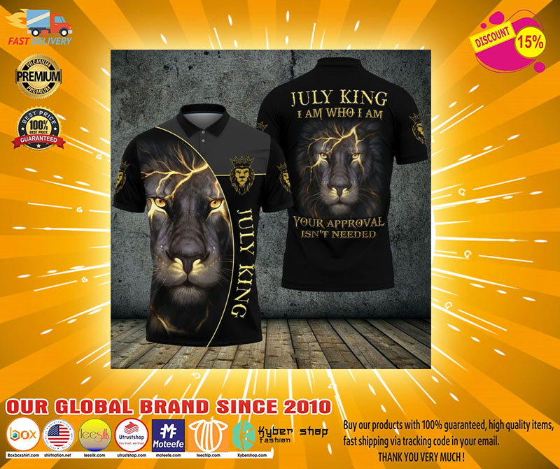 Lion july king I am who I am your approve isnt needed polo shirt2