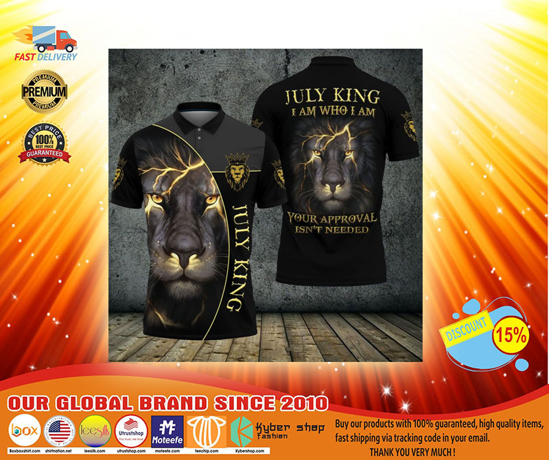 Lion july king I am who I am your approve isnt needed polo shirt3