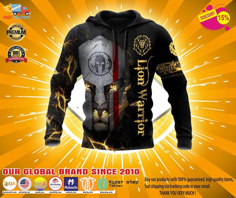 Lion spartan warrior 3D hoodie2