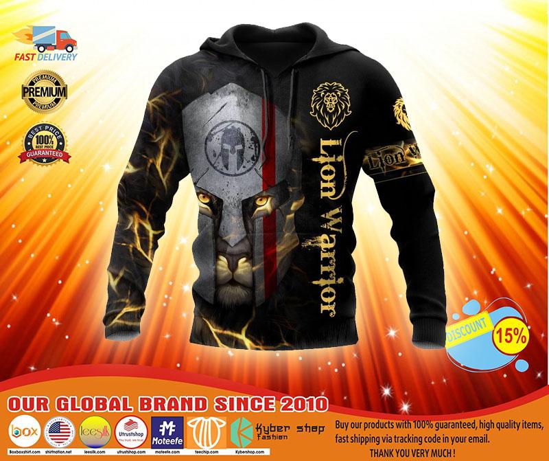 Lion spartan warrior 3D hoodie3