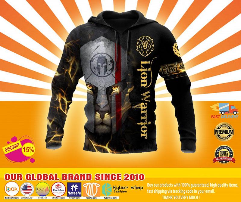 Lion spartan warrior 3D hoodie4