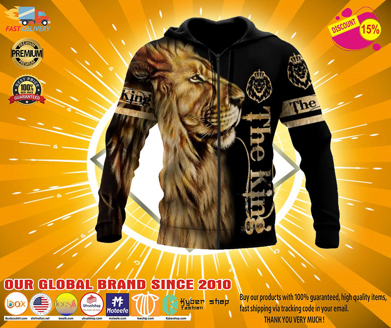 Lion the king 3D over print hoodie2