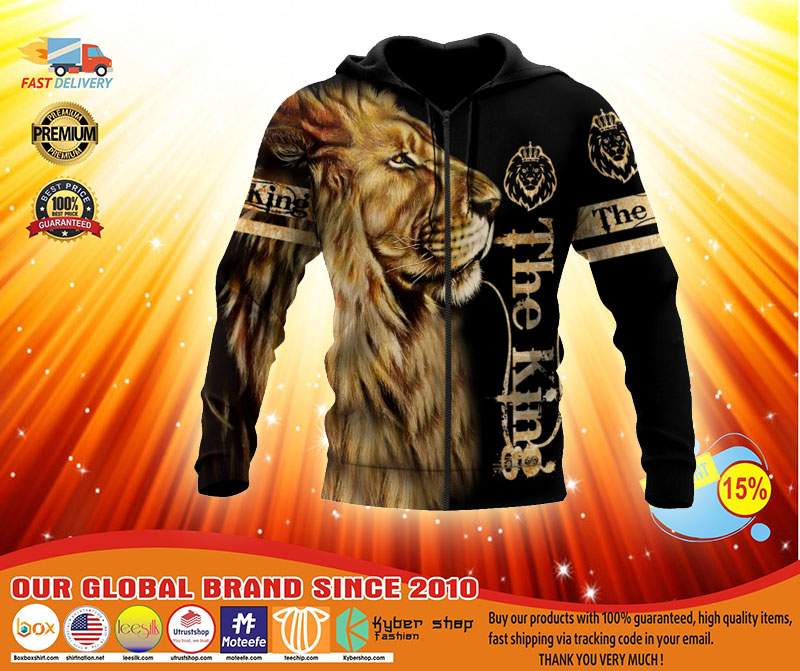 Lion the king 3D over print hoodie3