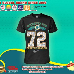 Miami Dolphins Undefeated 72 perfect season shirt 4