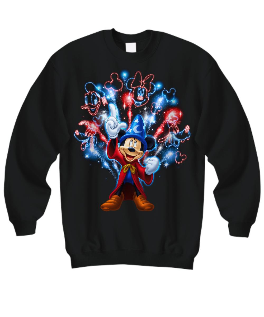 Mickey mouse firework Shirt Hoodie3