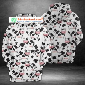 Milk cow 3D over print hoodie