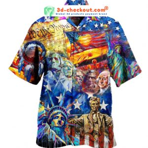 My Patriotic Heart Beats Red White and Blue Hawaiian Shirt