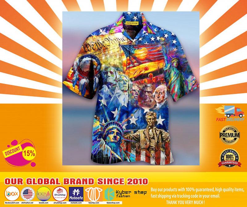 My Patriotic Heart Beats Red White and Blue Hawaiian Shirt4