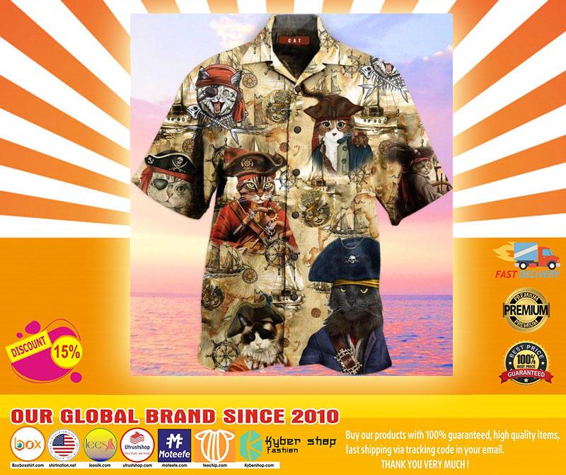 Pirate Cat Unisex Hawaiian Shirt4