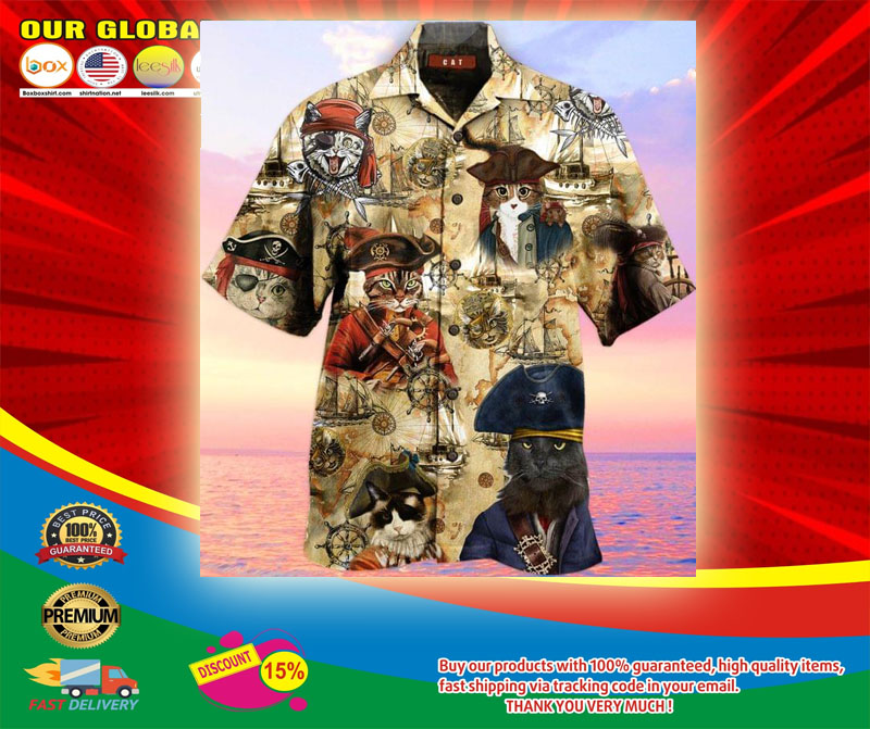 Pirate Cat Unisex Hawaiian Shirt5