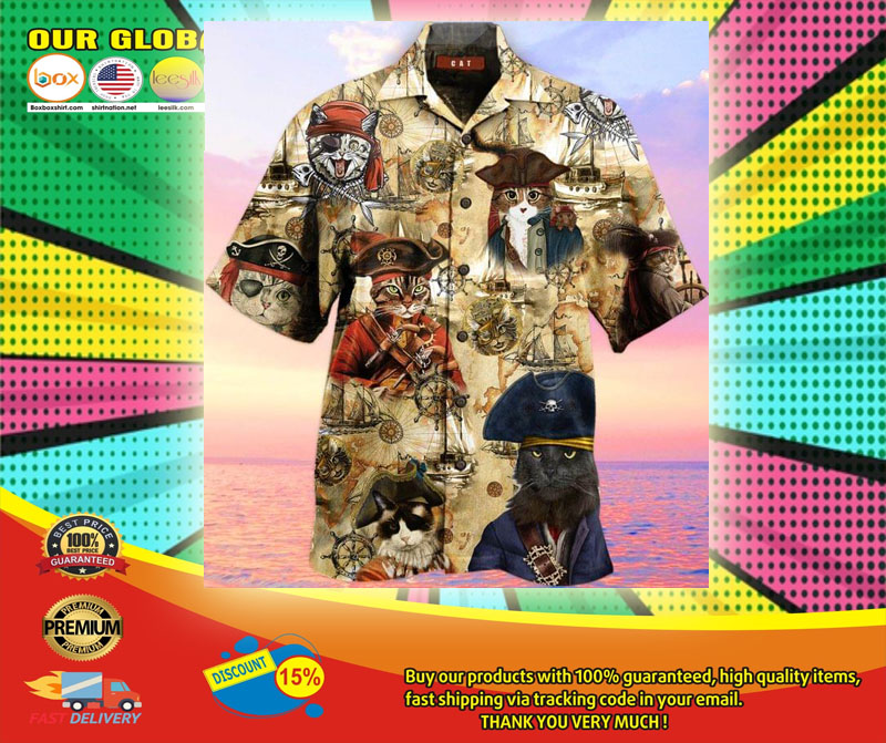 Pirate Cat Unisex Hawaiian Shirt6
