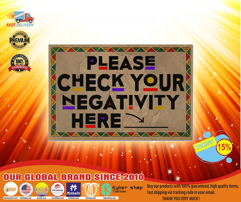 Please check your negativity here doormat3