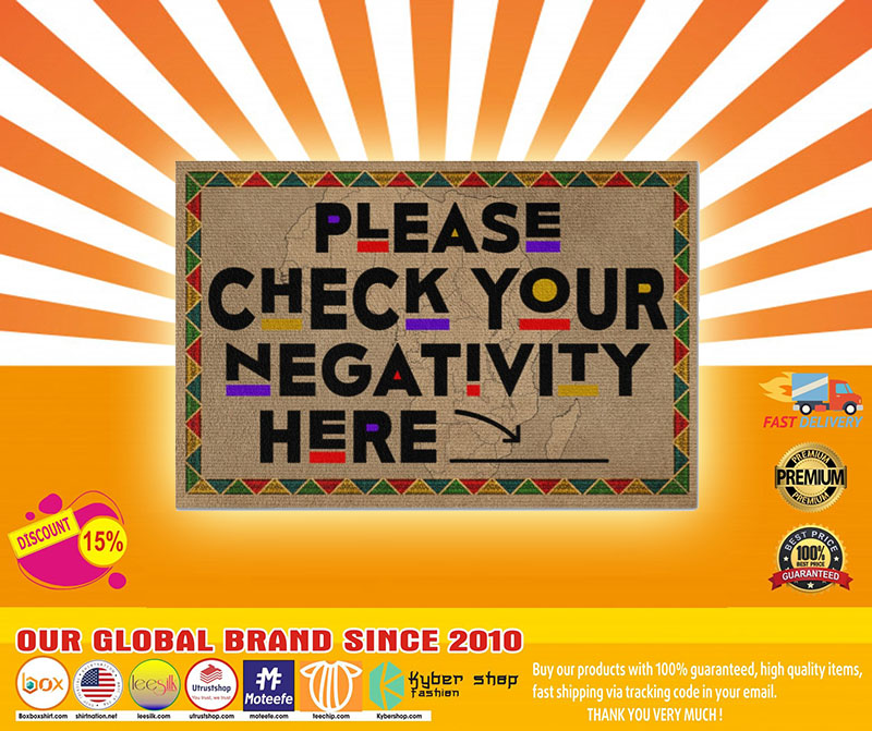 Please check your negativity here doormat4