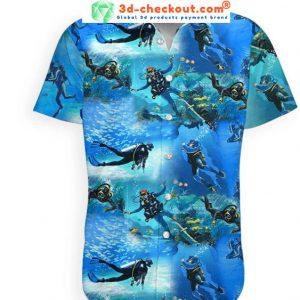 Scuba diving hawaiian shirt