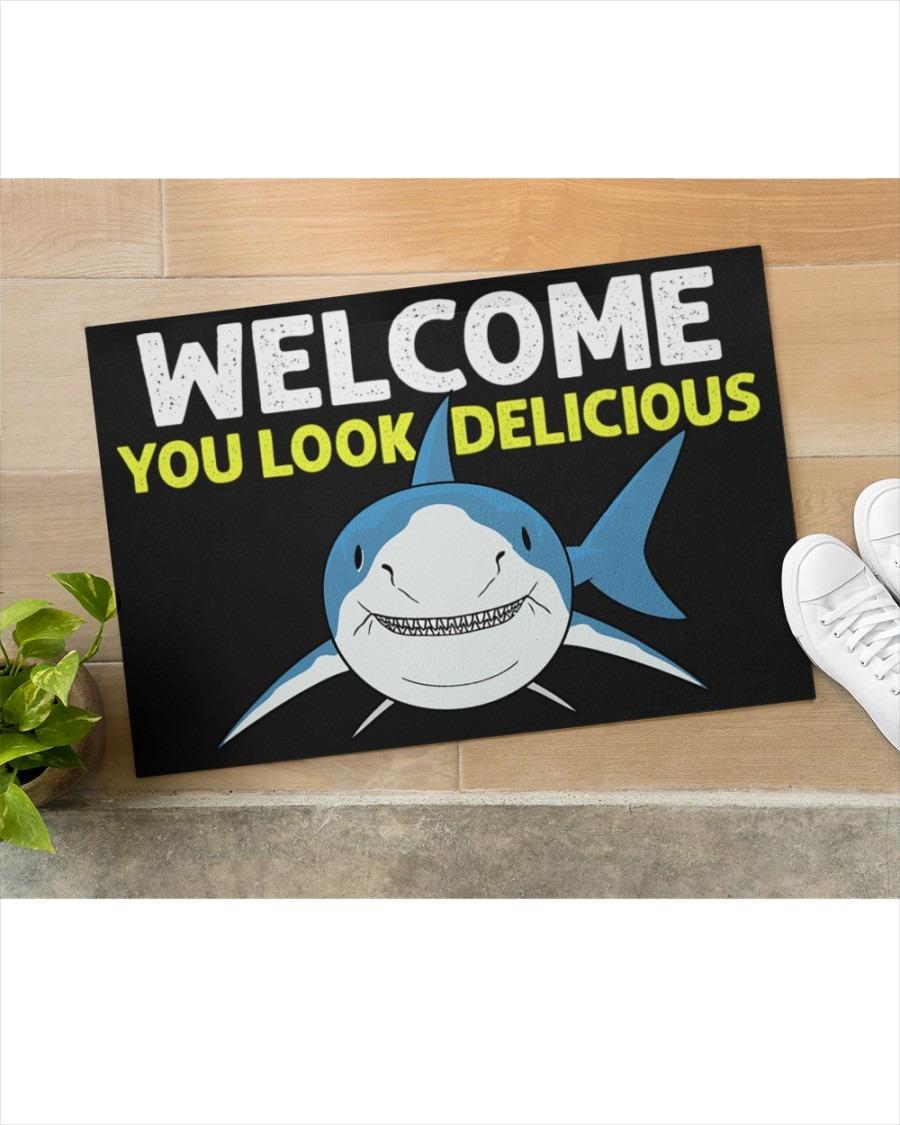 Shark welcome you look delicious doormat2