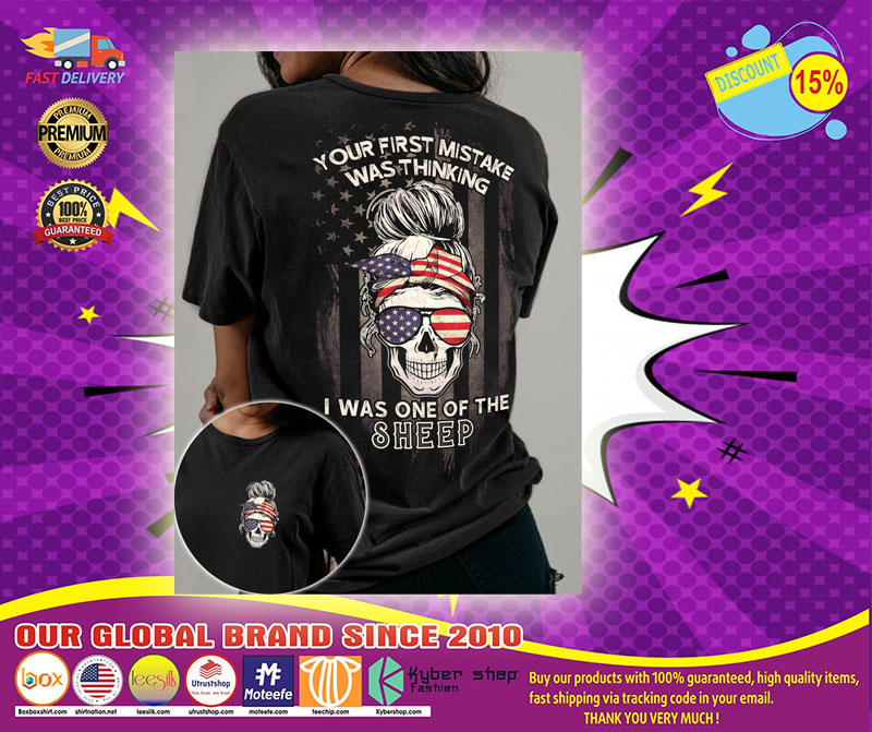 Skull American your first mistake was thinking I was one of the sheep 3D hoodie1