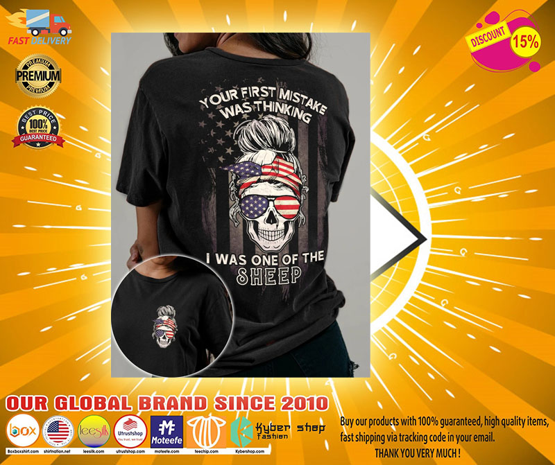 Skull American your first mistake was thinking I was one of the sheep 3D hoodie2