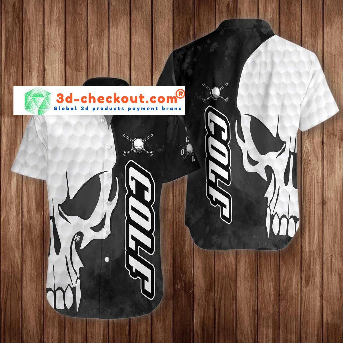 Skull Golf hawaiian shirt3