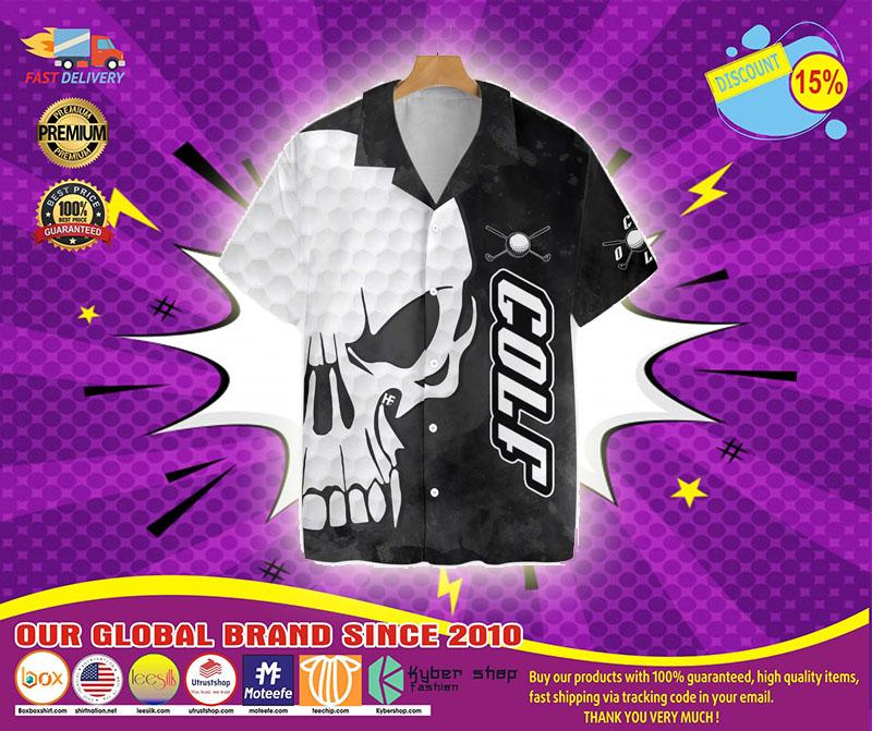 Skull Golf hawaiian shirt4