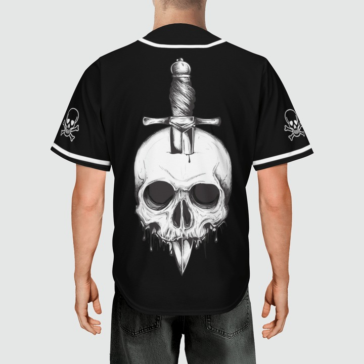 Skull ODGAF baseball jersey3