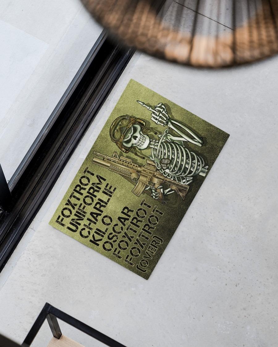 Skull Skeleton foxtrot uniform charlie kilo oscar foxtrot doormat2