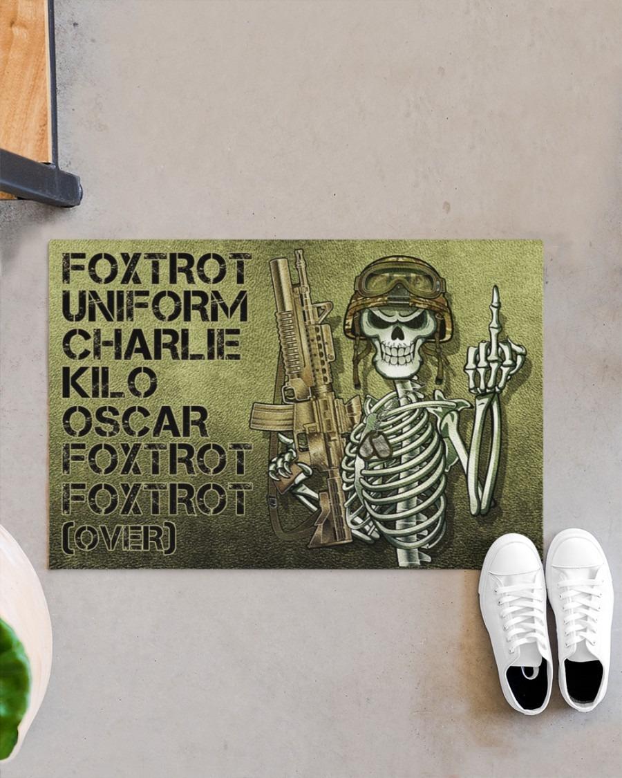 Skull Skeleton foxtrot uniform charlie kilo oscar foxtrot doormat3