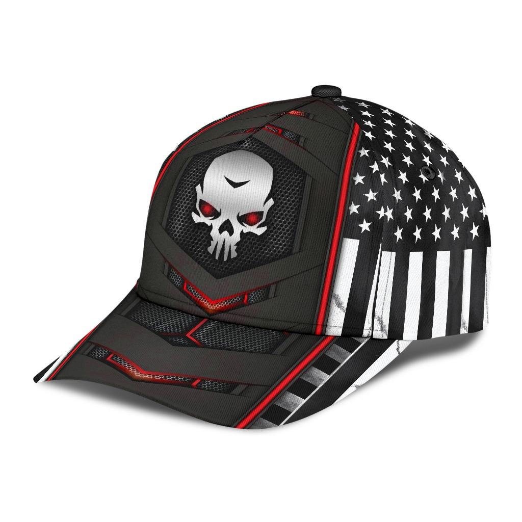 Skull red flag cap2