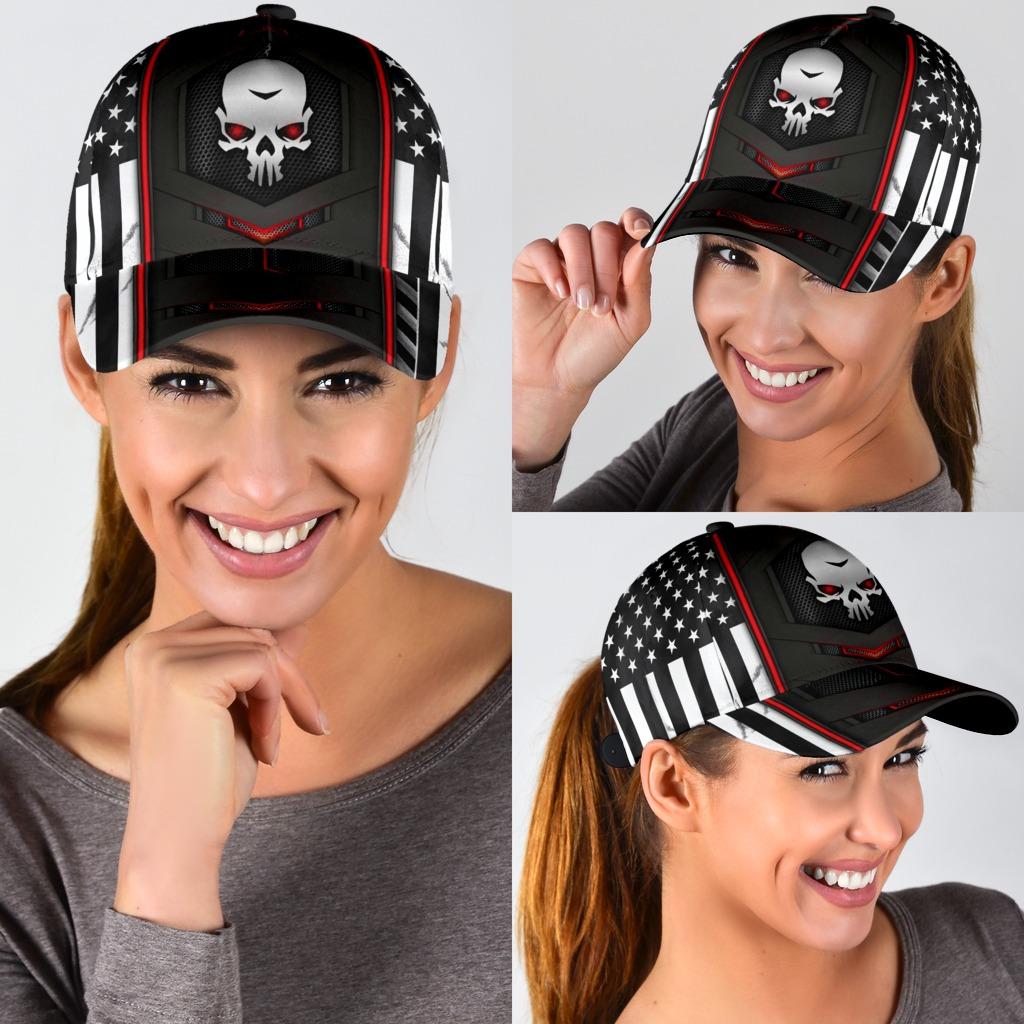Skull red flag cap3