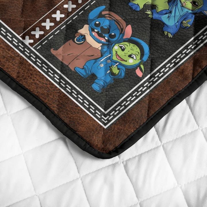 Stitch and baby Yoda friend quilt bedding set4 1