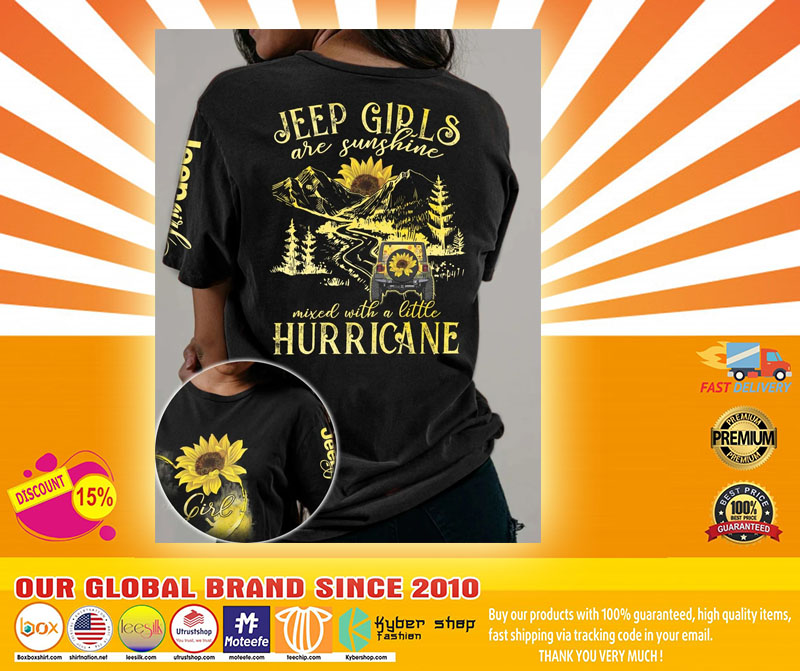 Sunflower Jeep girls are sunshine mixed with a little hurricane 3D hoodie4