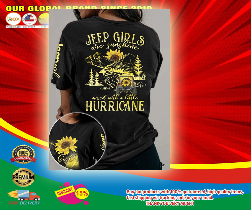 Sunflower Jeep girls are sunshine mixed with a little hurricane 3D hoodie5