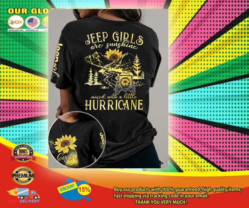 Sunflower Jeep girls are sunshine mixed with a little hurricane 3D hoodie6