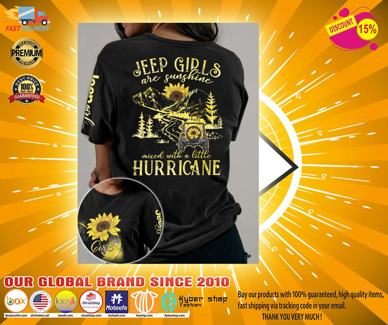 Sunflower jeep girls are sunshine mixed with a little hurricane 3D hoodie2