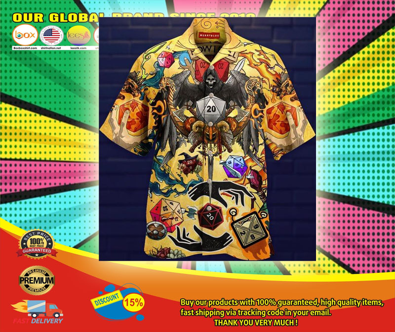 Take A Chane and Roll The Dice Hawaiian Shirt6