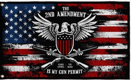 The 2ND amendment is my gun permit flag2