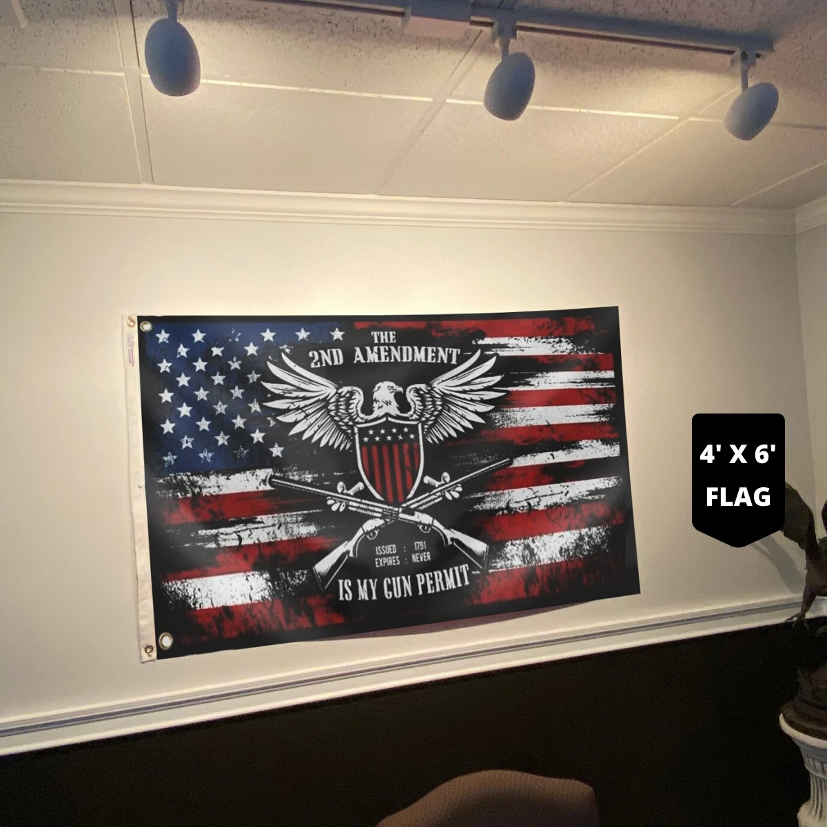 The 2ND amendment is my gun permit flag3