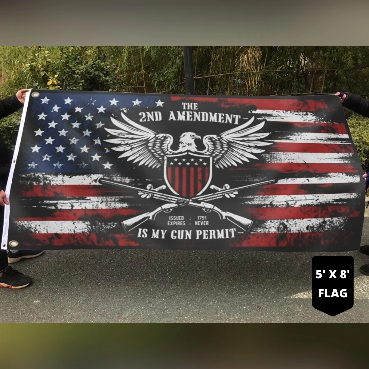 The 2ND amendment is my gun permit flag4