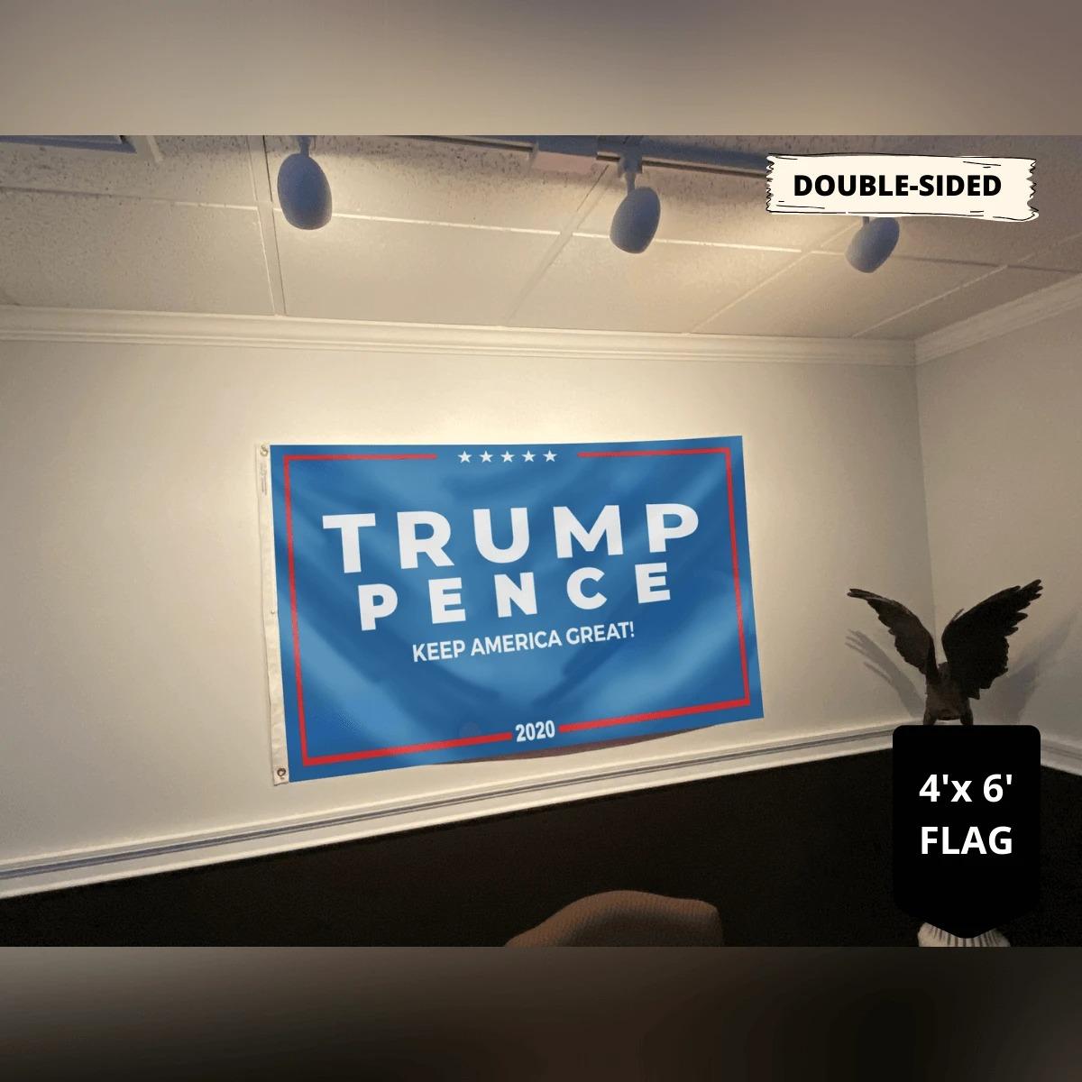 Trump pence keep America great flag4