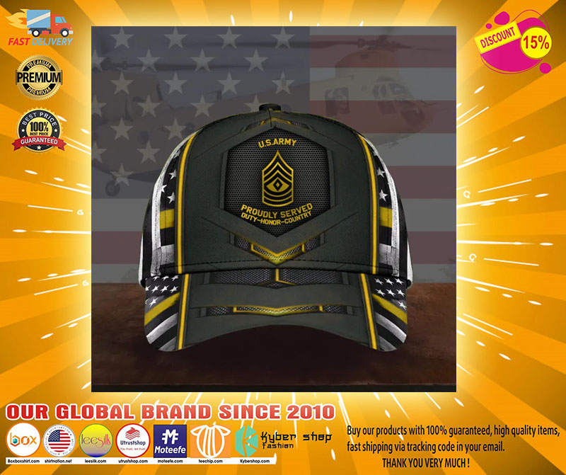 US army proudly served duty honor country cap2