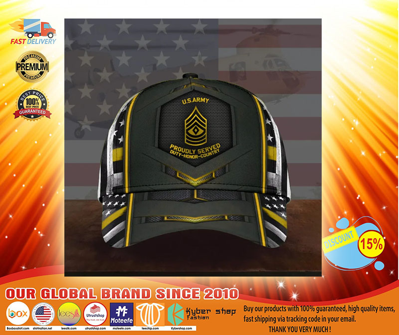 US army proudly served duty honor country cap3