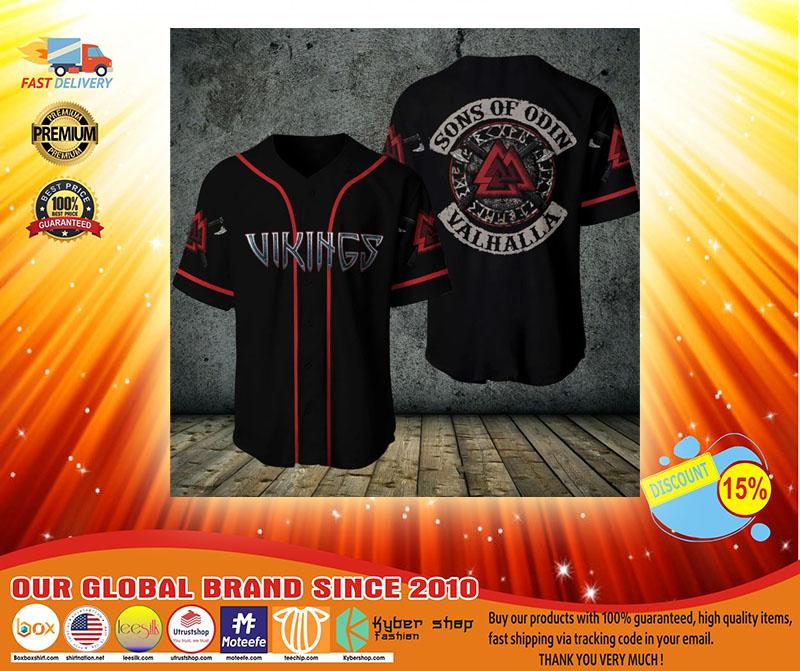 Viking sons of odin valhalla baseball shirt3