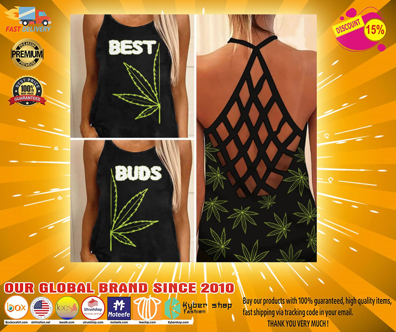 Weed Cannabis best bud Strappy tank top2