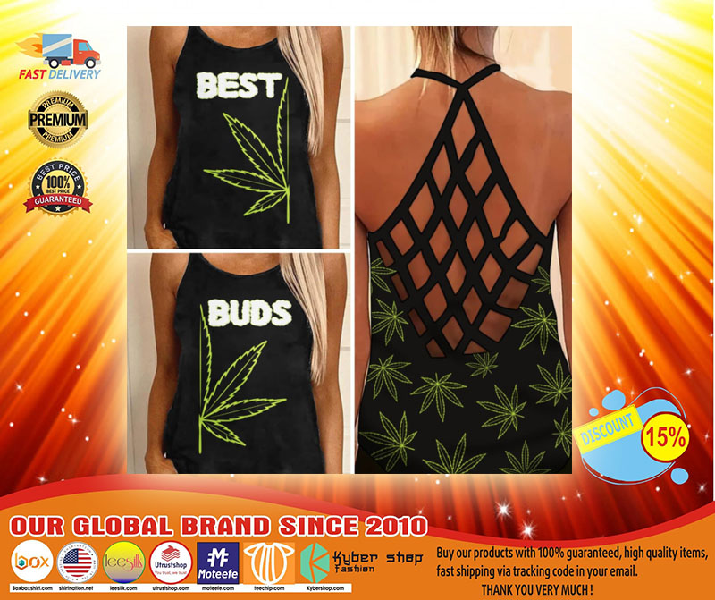 Weed Cannabis best bud Strappy tank top3