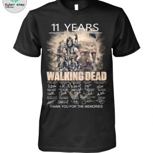 11 year the walking dead thank you for the memories shirt 2