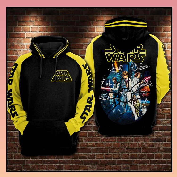 12 Star Wars signatures all over print 3d hoodie 2 1